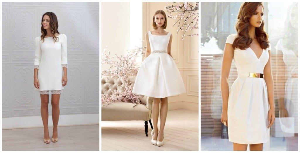 vestidos de novias sencillos y cortos