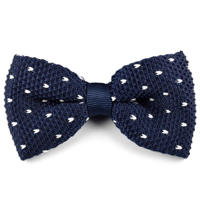 corbatas y pajaritas hipsters de punto