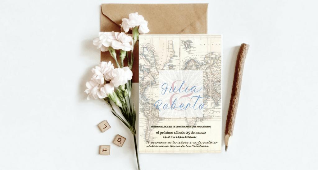 Invitación de Boda Wanderlust