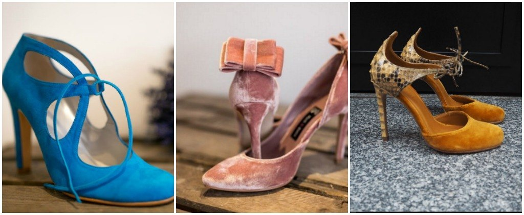 zapatos de terciopelo para invitadas
