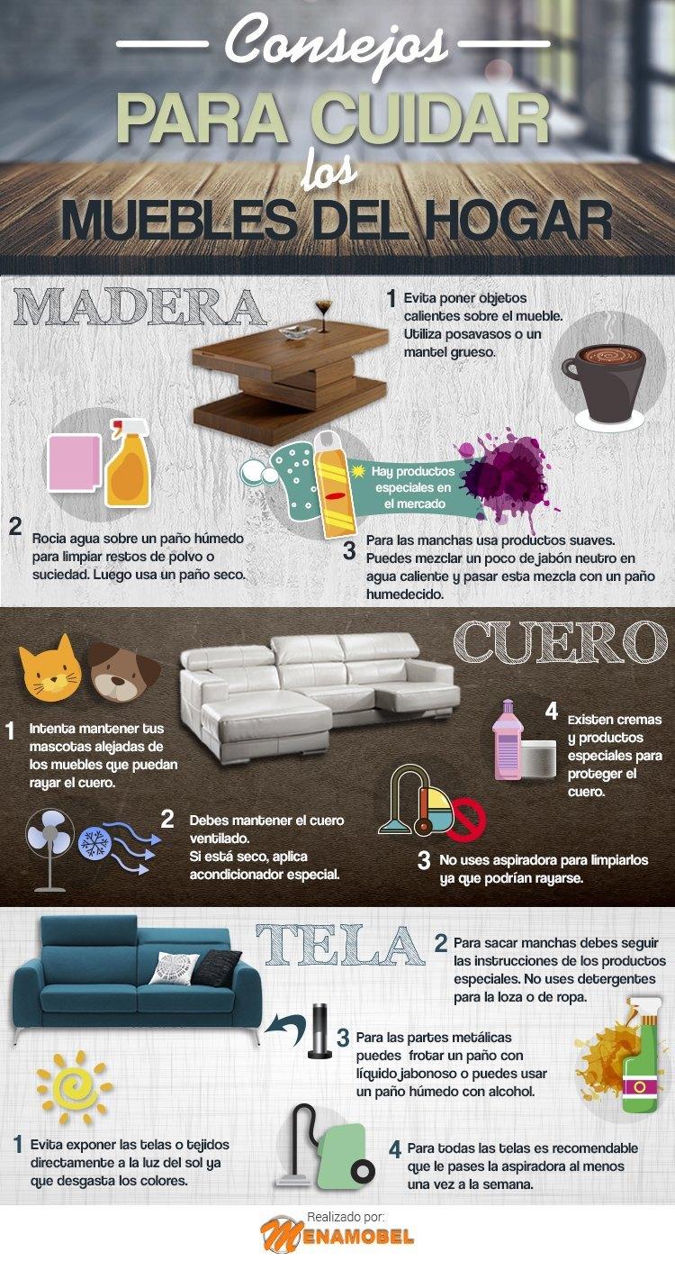 infografia como cuidar tus muebles - decoración para tu lista de boda