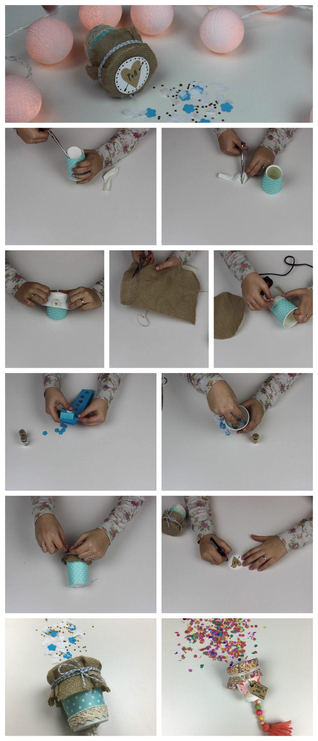 DIY Canon de Confeti DIY - cañón de confeti para bodas