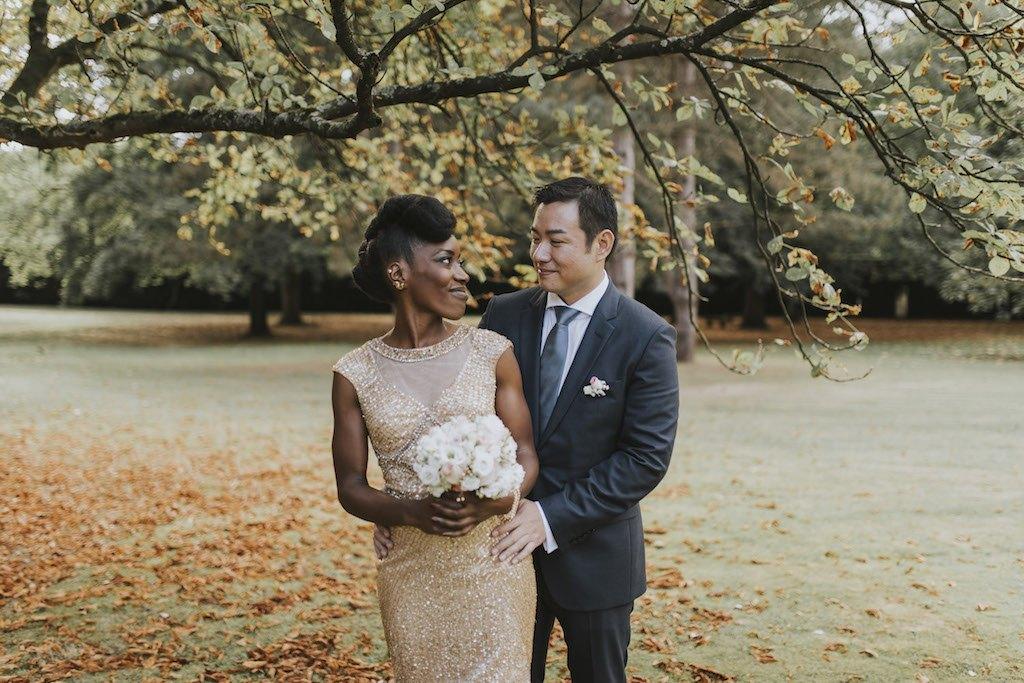 bride with a golden wedding dress 01221 SCM4829 - Maggy, La Novia con el Vestido Dorado