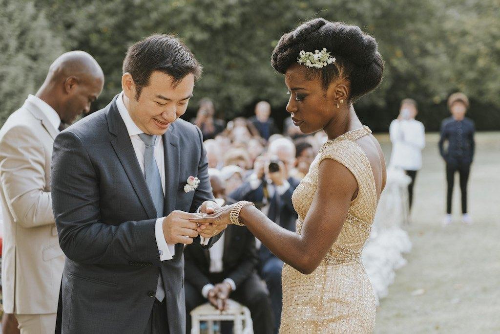 bride with a golden wedding dress 01451 SCM5493 - Maggy, La Novia con el Vestido Dorado