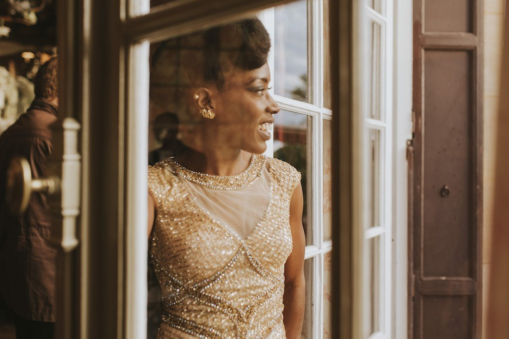 bride with a golden wedding dress 01602 SCM6136 - Maggy, La Novia con el Vestido Dorado
