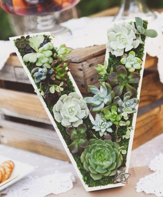 suculenta decoracion floral