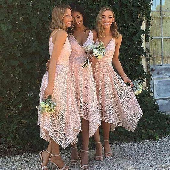 damas de honor vestido corto