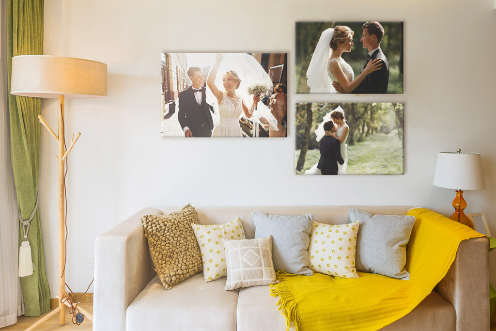 decorar casa con fotos de la boda