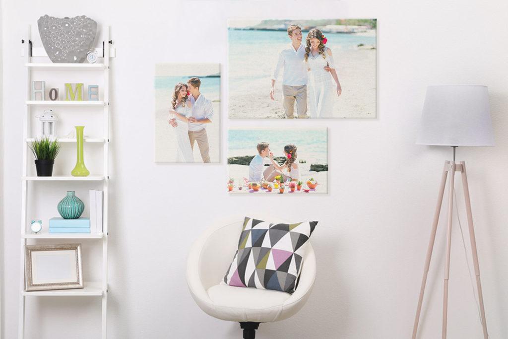 decorar tu casa con lienzos de tu boda