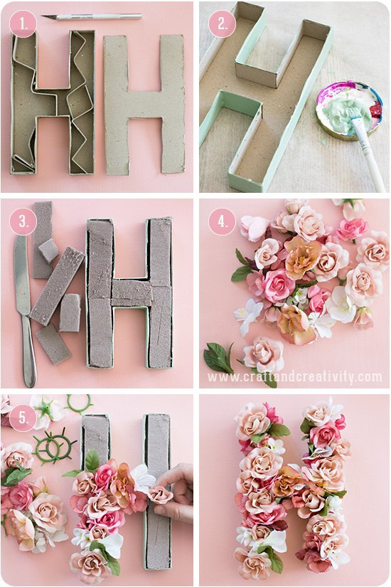 paso a paso para hacer letras de carton decorados