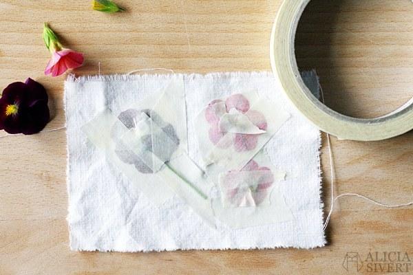 pintar flores paso 2 - Cómo Pintar Flores en una Servilleta de Algodón