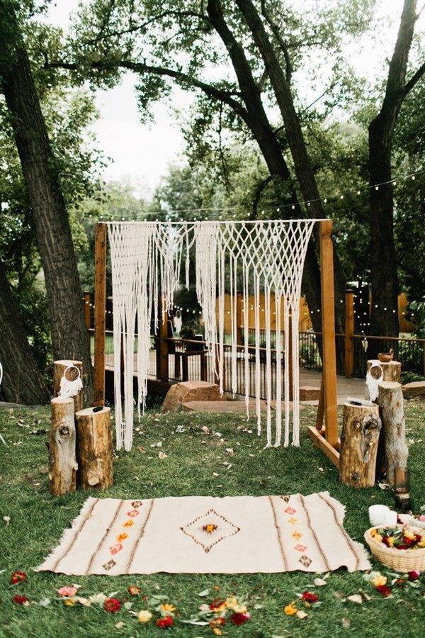 decorar ceremonia boho con macrame - Inspiración con Macramé para Bodas Bohemias