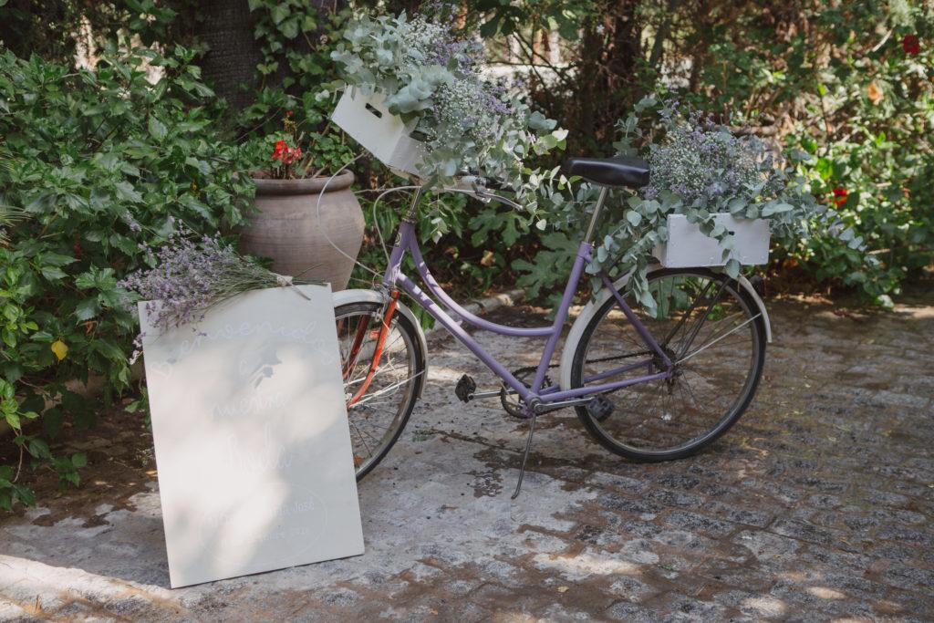 bicicleta bienvenida - Boda Mª José y Alfredo