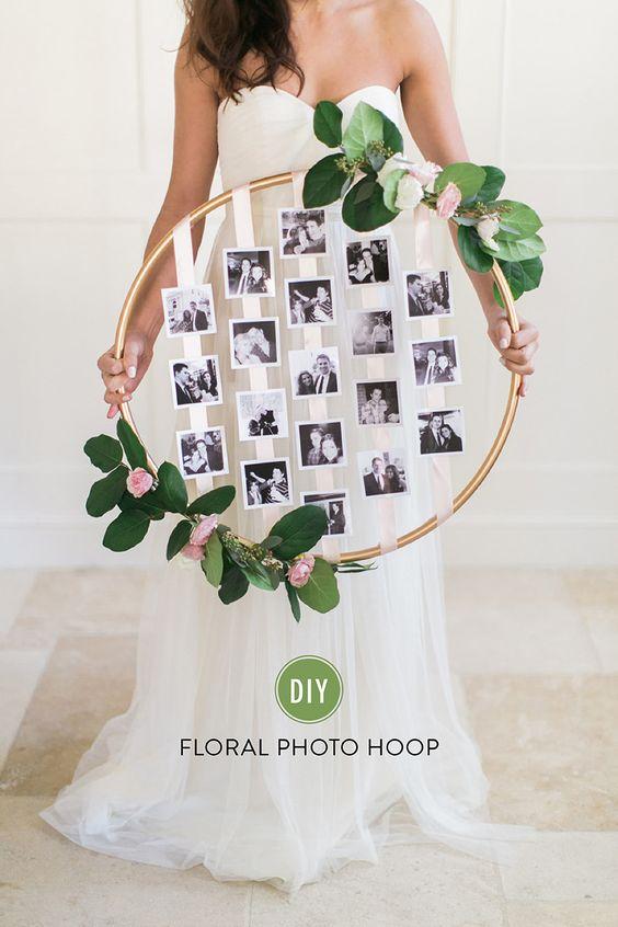 diy aro floral con fotos
