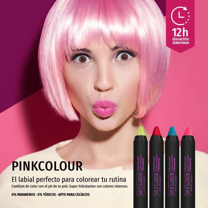 pink colour labiales de larga duración