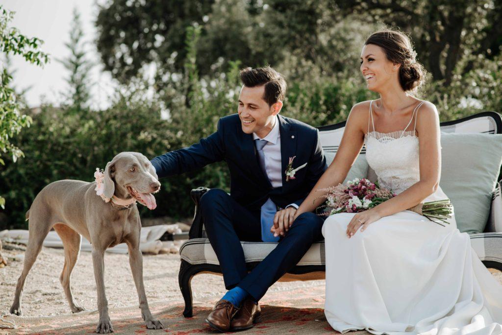 boda rustica con mascota 22 - Boda Campestre de Ainhoa y Adolfo con su Mascota