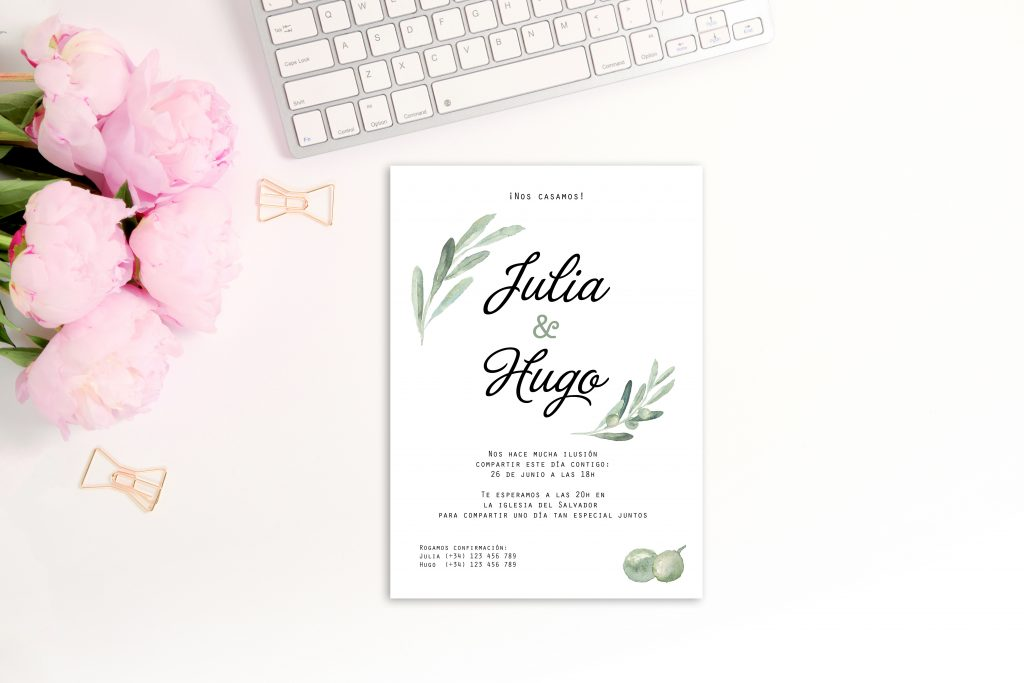 Invitación Olive - ¿Como Elegir las Invitaciones de Boda?