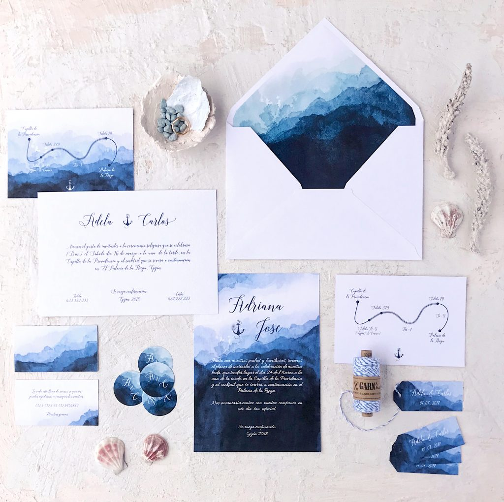 invitacion marinera agua marmarina - ¿Como Elegir las Invitaciones de Boda?