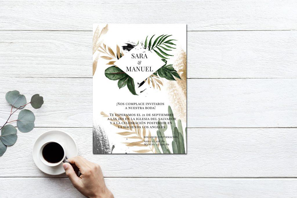 Invitación Botanic Gold 2019 - ¿Como Elegir las Invitaciones de Boda?