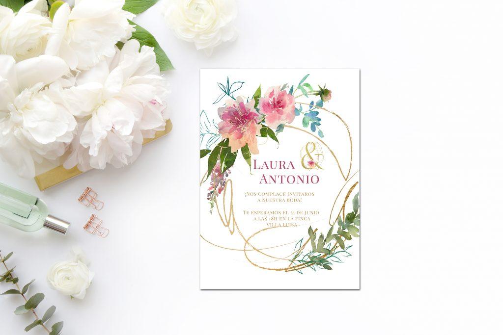 Invitación Flower Gold 2019 - ¿Como Elegir las Invitaciones de Boda?