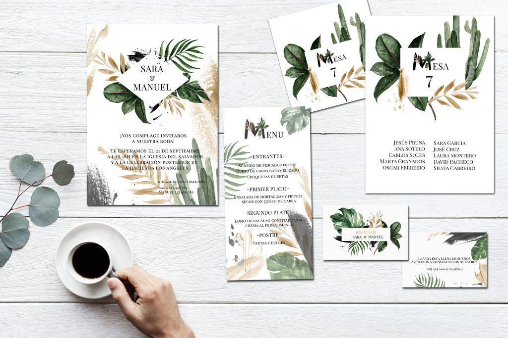 Pack Papelería Botanic Gold 2019 - Papelería para Descargar: Flower Gold y Botanic Gold