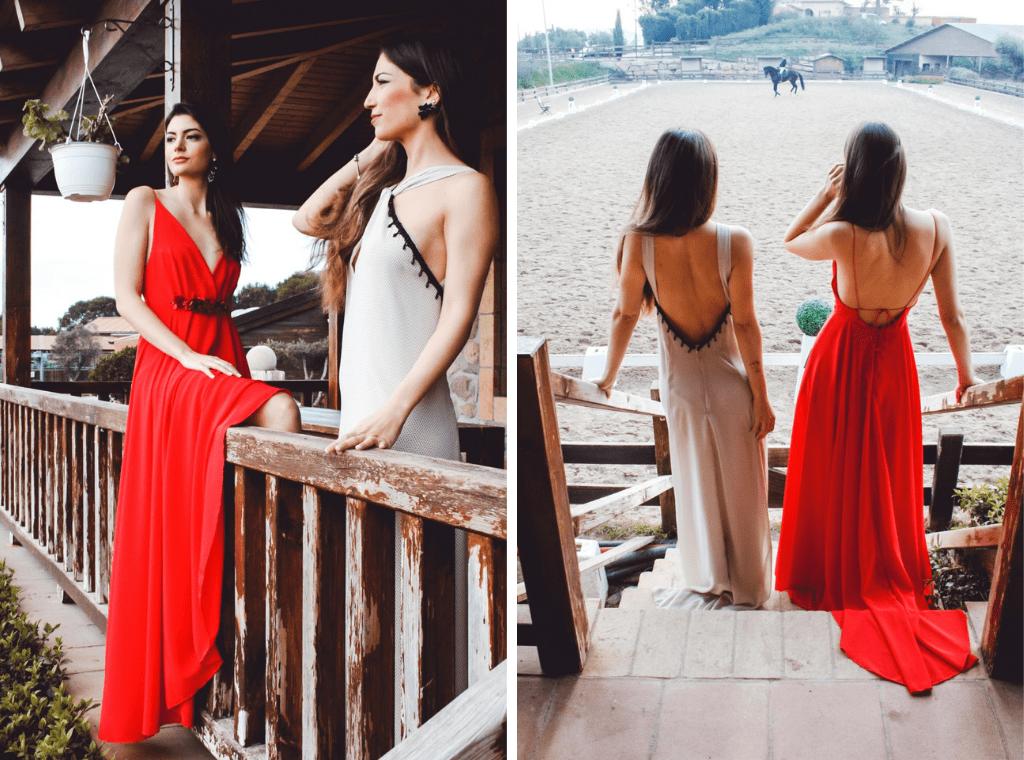 Vestidos Mabel Galindo 3 - Mabel Galindo: Invitadas con Escotes