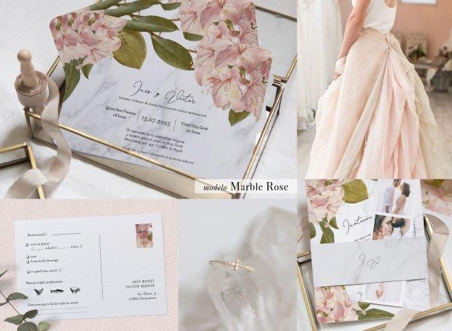 invitaciones de boda cottonbird modelo marble rose - Las Invitaciones de Boda de Cottonbird: Elegancía y Delicadeza