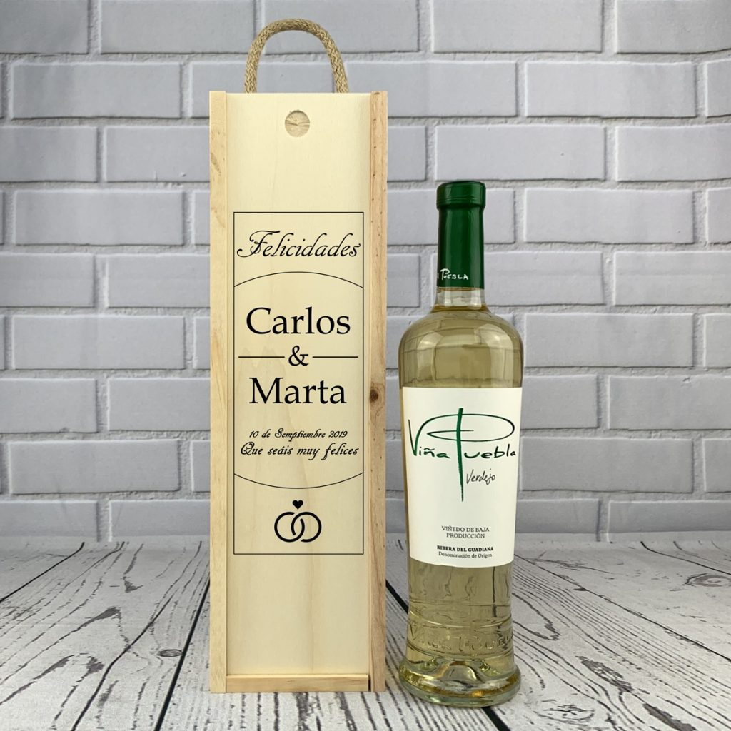 1 caja vino blanco regalo personalizado 22 - 4 Detalles de Boda para Sorprender