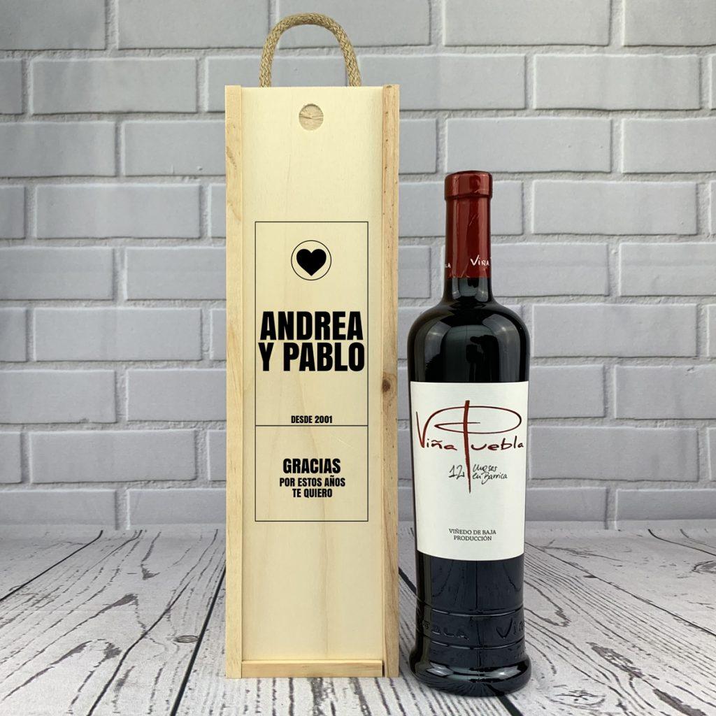 Caja regalo 1 botella de vino 3 - 4 Detalles de Boda para Sorprender