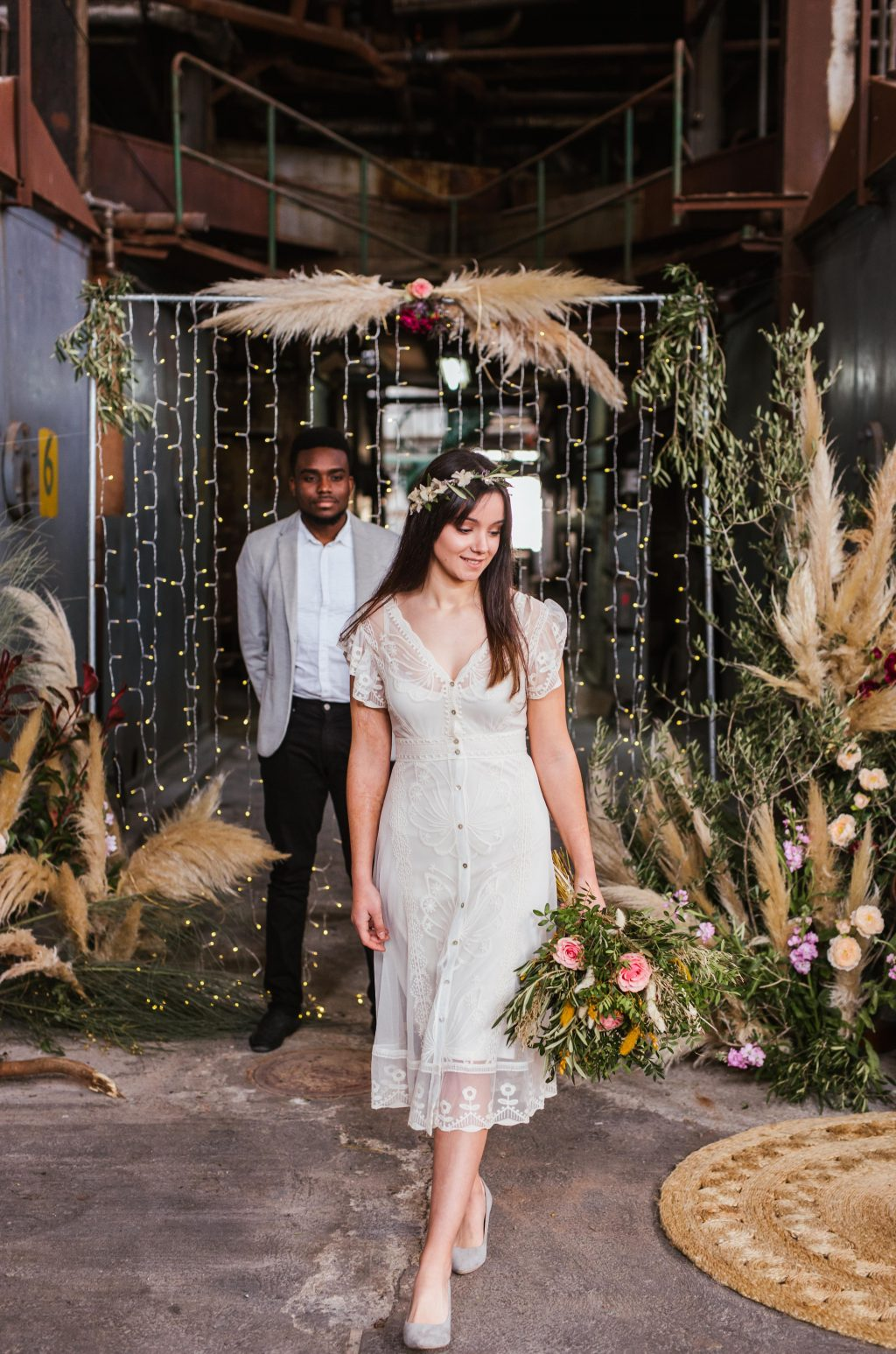 Inspiración para boda industrial editorial 14 - Inspiración para una Boda Industrial y Boho