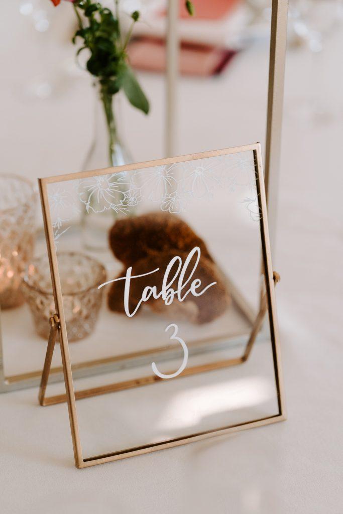 numeración de mesa elegante