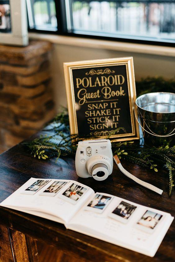 libro de firmas con fotos - Decoración con Fotografías Polaroid
