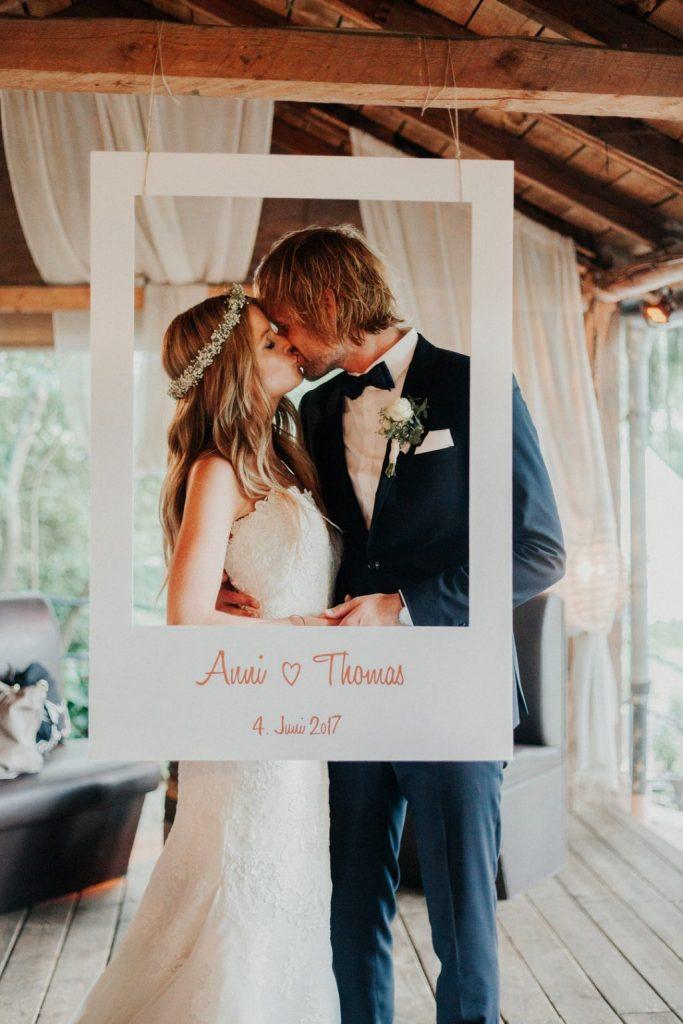 Photocall para bodas con Polaroid