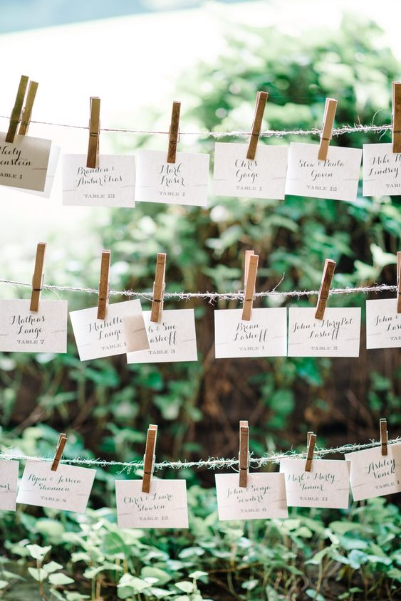 rustic sittin plan - Ideas para la Numeración de Mesas
