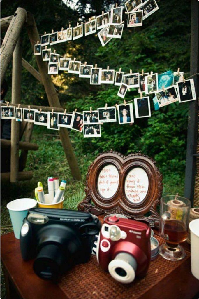 usar polaroid en decoracion de la boda - Decoración con Fotografías Polaroid