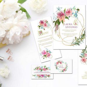 Coleccion Flower Gold Portada - Diario de Una Novia Shop Online