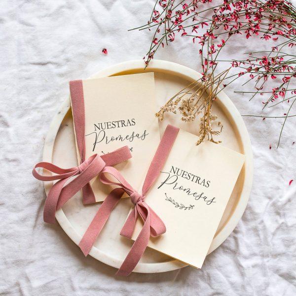 libretas para votos matrimoniales