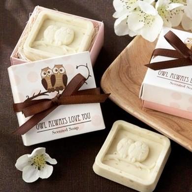 jabon aromatico buhos en caja de regalo - Ideas para los Detalles de Boda para Mujeres
