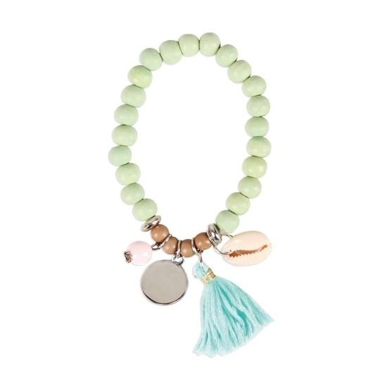 pulsera perlas con pompon varadero en bolsa de regalo - Ideas para los Detalles de Boda para Mujeres