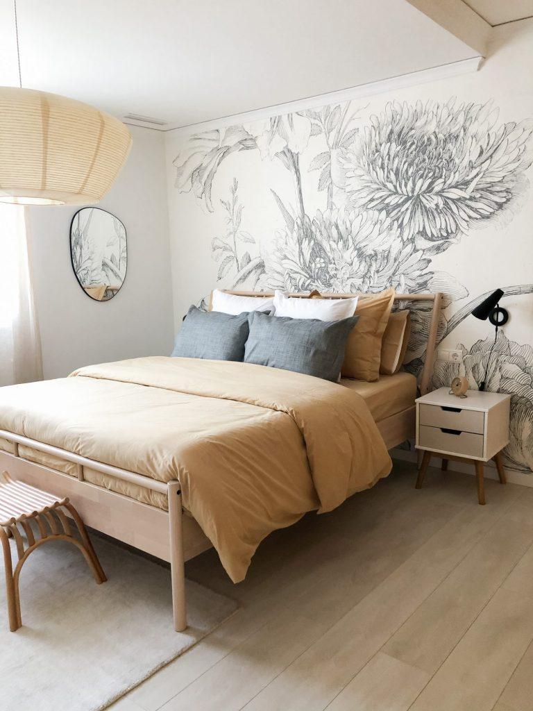 Textiles y fundas nórdicas para dormitorios de primavera