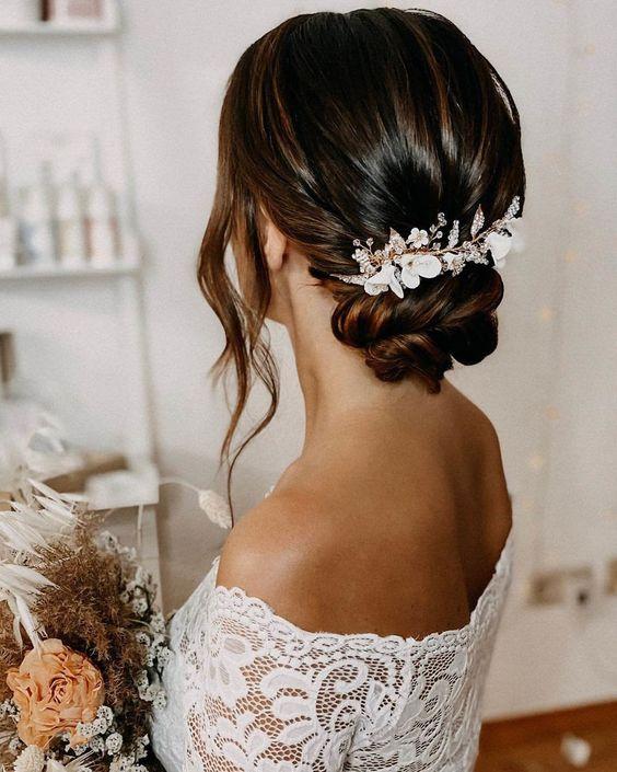 Peinados para bodas 2021 1 - Los Peinados de Novia más de Moda de este Año