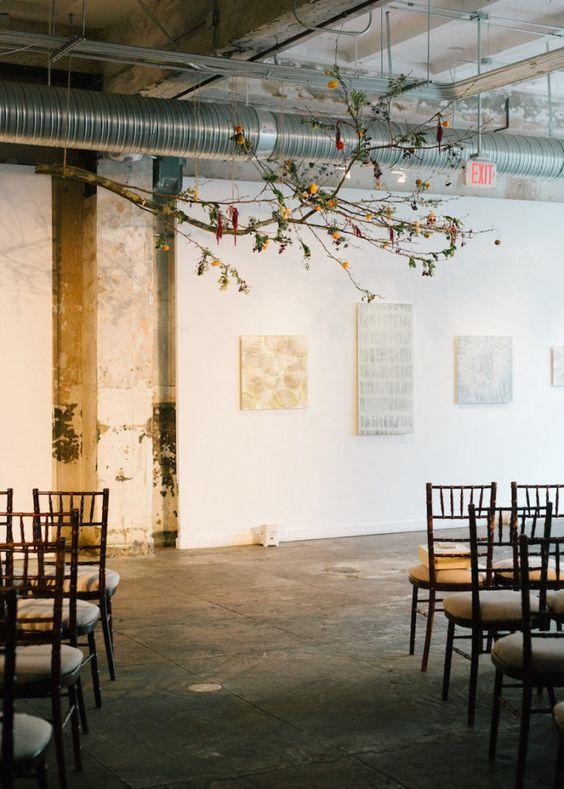 boda minimal en galeria de arte - Ideas para una Decoración de una Boda Minimalista