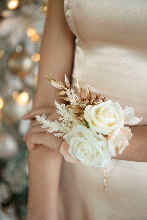 diy inspiracion corsages para novias