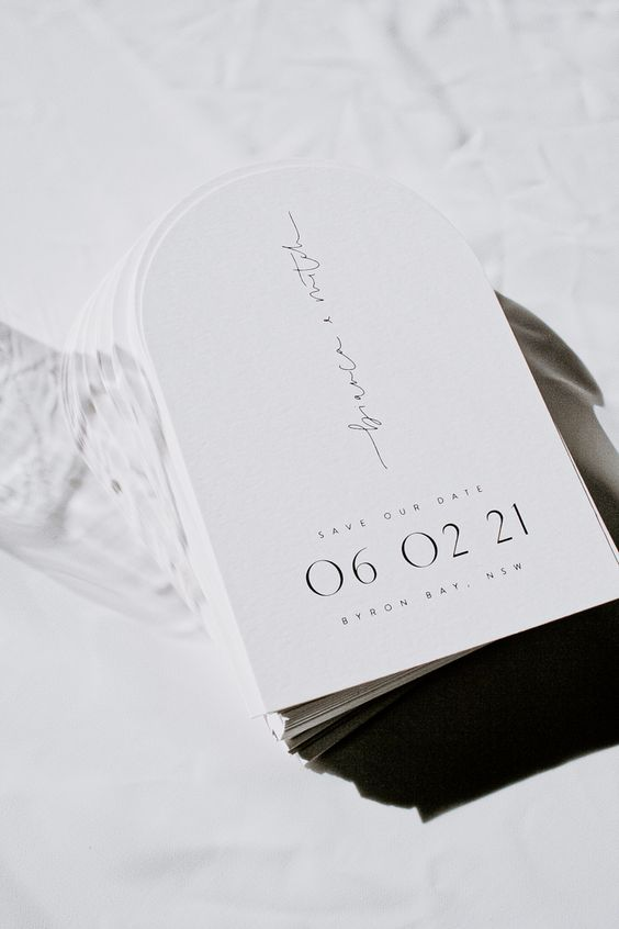 invitacion de boda minimal evergreen ink - Ideas para una Decoración de una Boda Minimalista